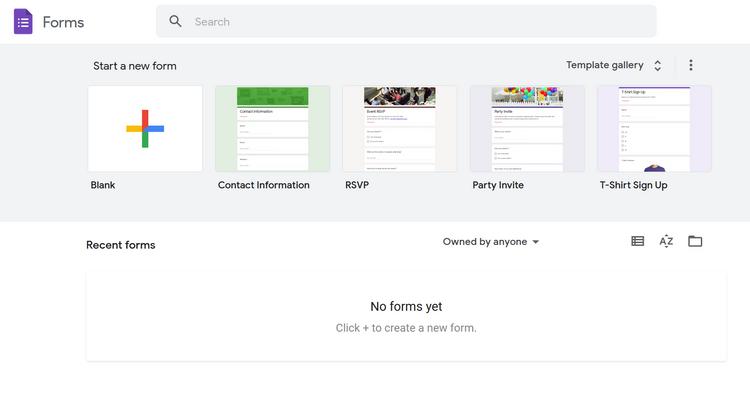 ایجاد Google Forms