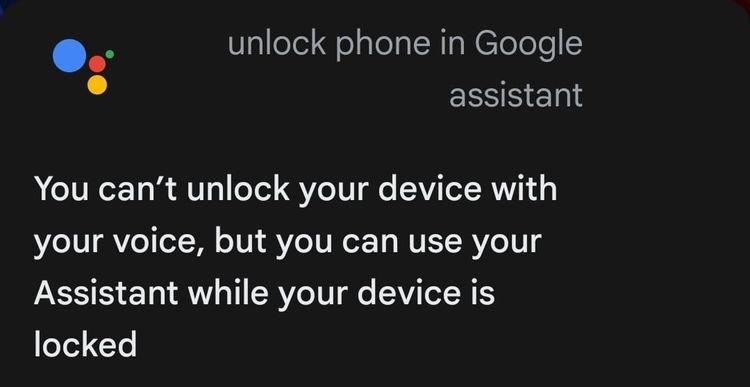 باز کردن قفل گوشی با استفاده از دستیار گوگل