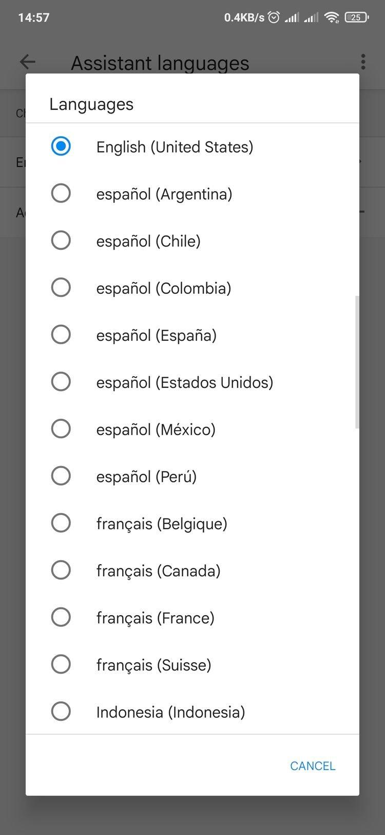 تغییر زبان دستیار گوگل در اندروید