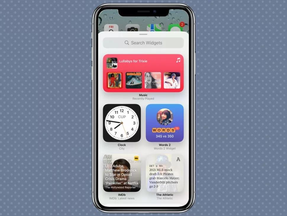 ویجتهای iOS 15