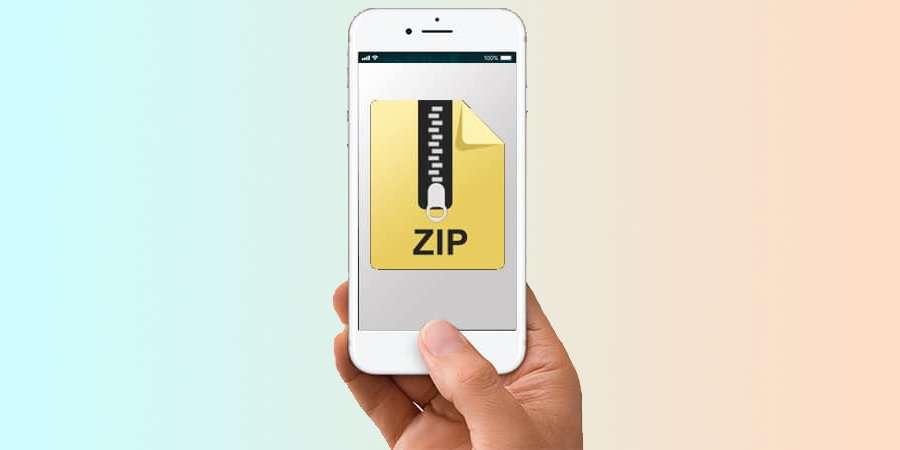 آموزش نحوه ساخت فایل زیپ در آیفون و آیپد