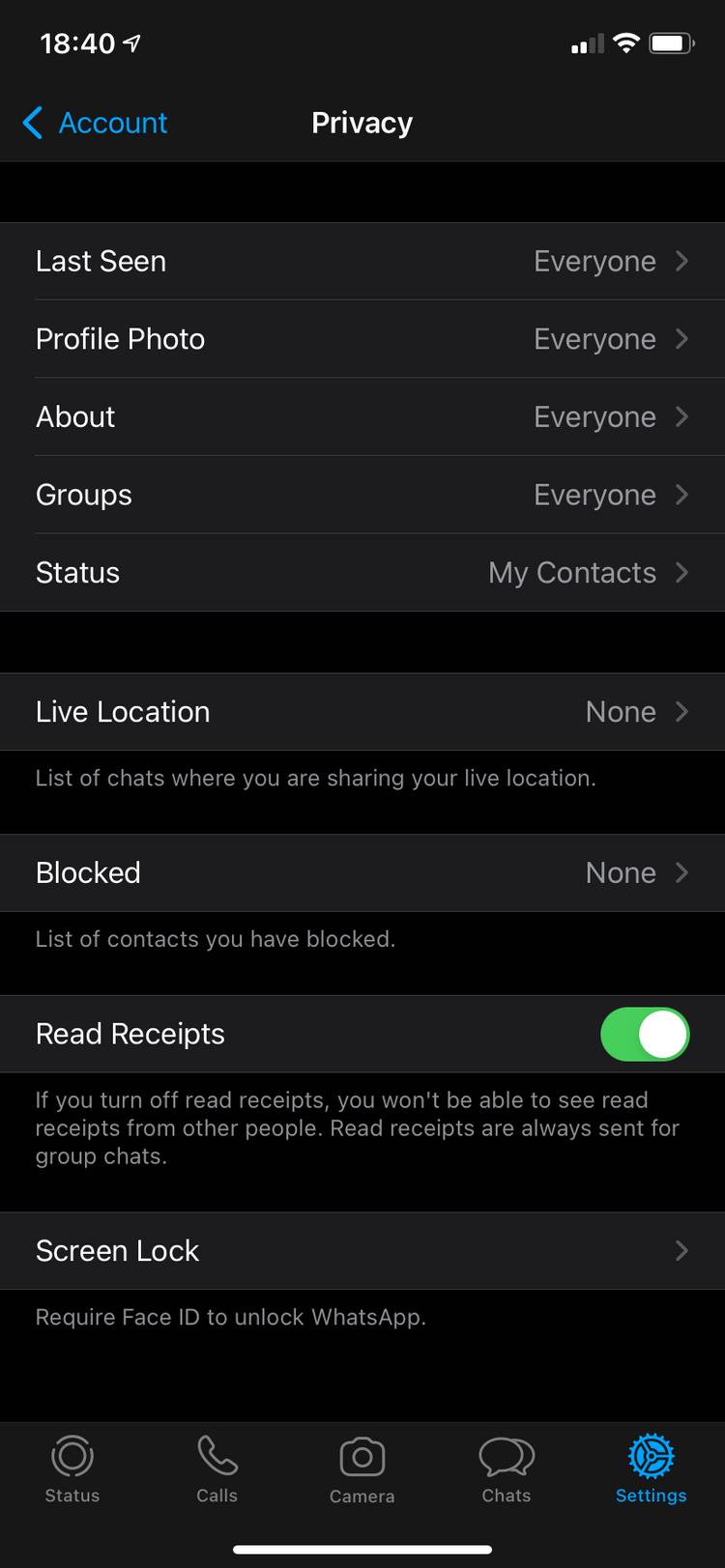 نحوه مشاهده زمان دقیق خواندن پیام در واتساپ