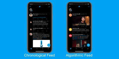 Chronological vs Algorithmic Feed Example 1