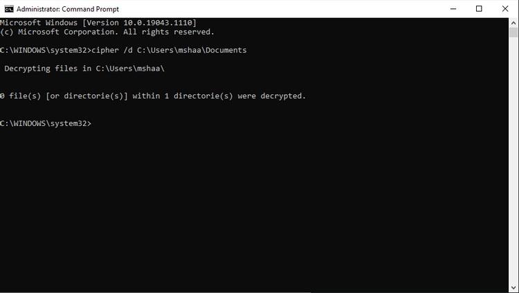 رمزگشایی فایلها از طریق خط فرمان