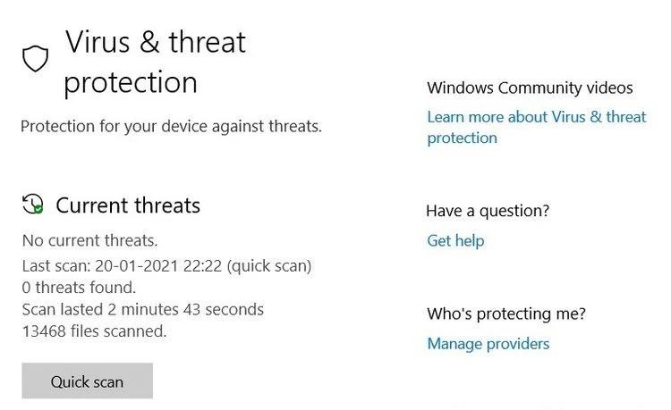 حذف بدافزارها با ویندوز دفندر