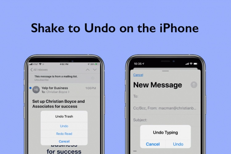 نحوه استفاده و غیرفعال کردن حالت Shake To Undo در آیفون