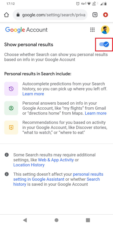 چگونه از شخصی سازی نتایج جستجوی گوگل جلوگیری کنیم؟ 8