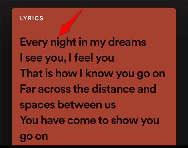 3 spotify song lyrics