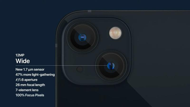 iphone 13 camera features wide lens thumb
