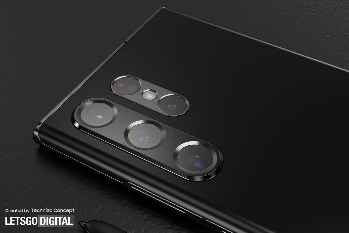 رندرهای جدید گوشی گلکسی اس 22 اولترا طراحی دوربین دو قسمتی را نشان میدهند
