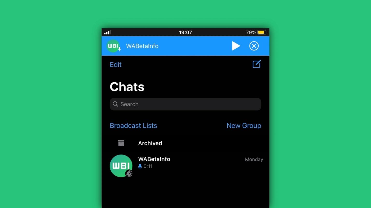 قابلیت جدید واتساپ iOS ضبط پیام را متوقف کرده و دوباره ادامه دهید