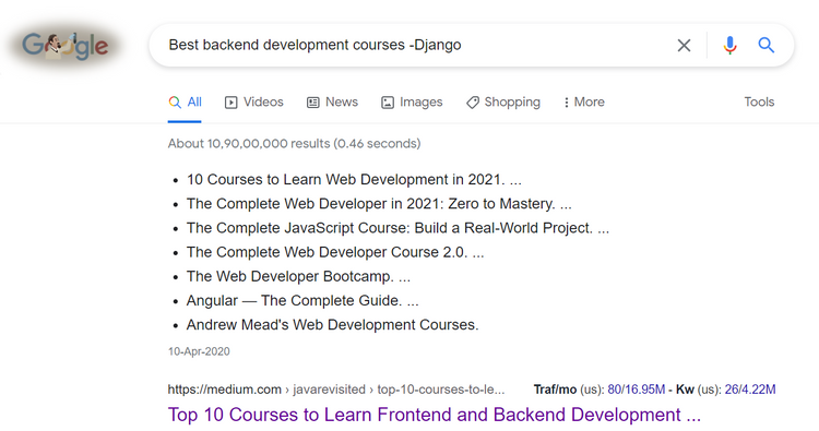 و ترفندهای جستجوی گوگل برای برنامه نویسها 1