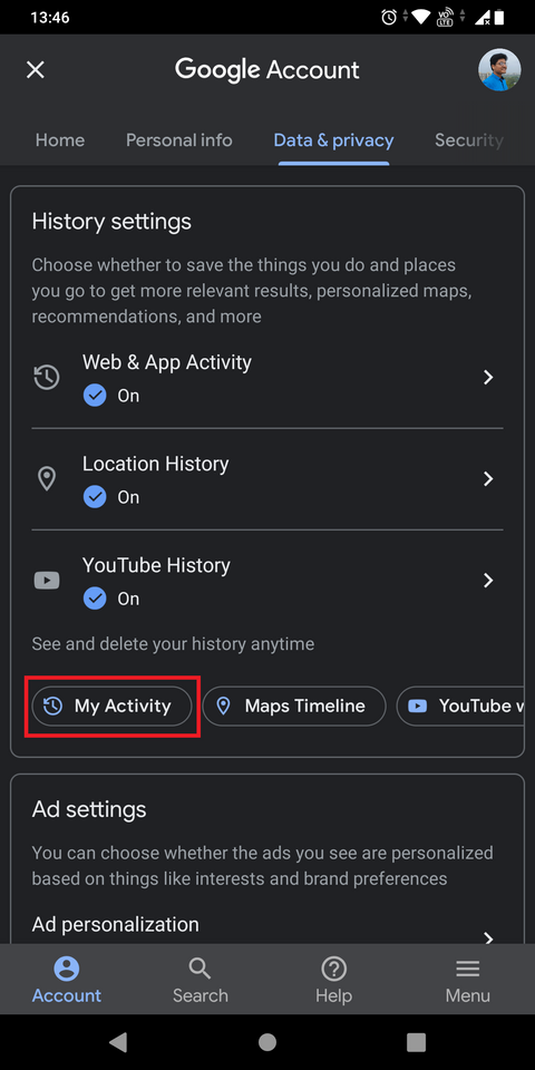 چگونه به تاریخچه فعالیت My Activity خودمان در گوگل دسترسی پیدا کنیم؟ 4
