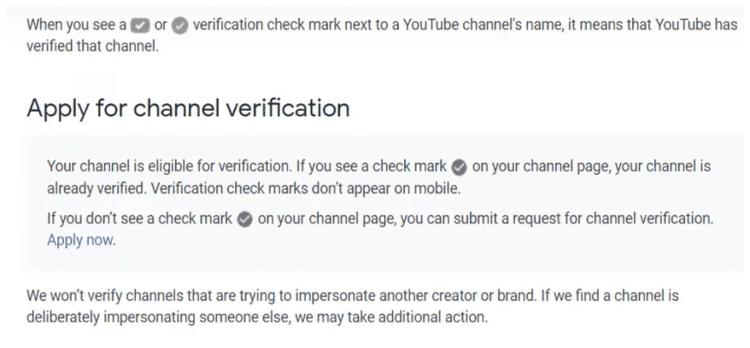 چگونه تیک تأیید یوتیوب را بگیریم؟ 4
