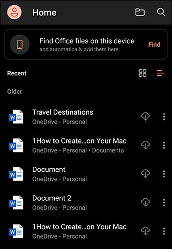 دارک مود مایکروسافت آفیس را در اندروید فعال کنیم؟ 5