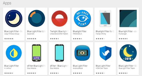 blue light filtering apps