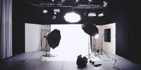 filming studio setup